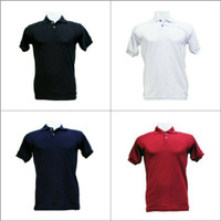 Kaos Polo Cowok Cewek Slim Fit Pendek Polos - Premium Quality