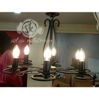 lampu gantung klasik cabang 5 lampu hias retro lampu hias candle