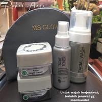 Ms glow paket wajah acne series