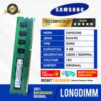 RAM SAMSUNG LONGDIMM DDR3 4GB PC 12800 / PC 10600