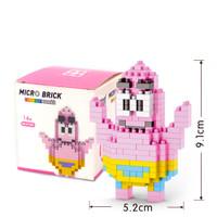 Mainan lego puzzle micro brick spongebob - patrick