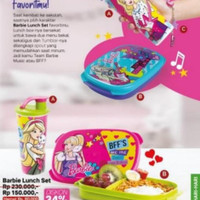Tupperware Barbie Music Lunch Set