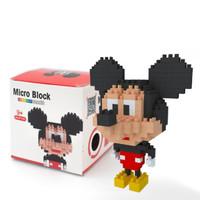 Mainan lego puzzle micro brick mickey mouse - mickey mouse