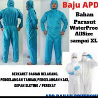 baju apd hazmat bahan parasut WP all size fit to XL,ready biru & putih