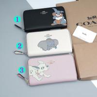 Coach x Disney Pebbled Leather Medium Zip Arround Wallet - ORIGINAL