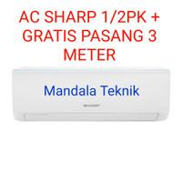 Ac Sharp AH-A5UCY (1/2pk) + GRATIS pasang 3 meter - Putih