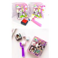 Mainan anak edukasi - roller stamp - stempel reward anak unicorn -