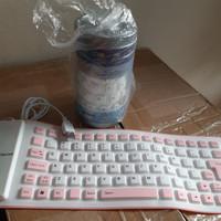 Portable Keyboard Silicone 85 Keys 2Warna Flexible Keyboard Silicone
