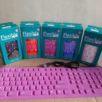 Keyboard Silicone 109Keys Portable Keyboard Flexible Keyboar