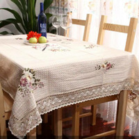 Taplak meja makan import renda rajut motif sulam pita