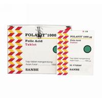 Folavit 1000 strip 4 tablet (memenuhi kebutuhan asam folat ibu hamil)