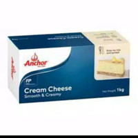 ANCHOR CREAM CHEESE 1KG ORIGINAL khusus grab/gosend