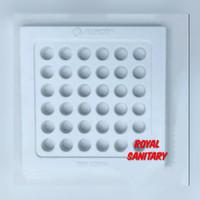 Saringan Got Plat ALINCO Plastik PVC Putih 11 cm-Floor Drain plastic