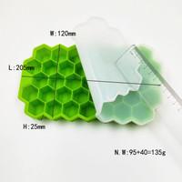Silicone Cetakan Es Batu Honey Comb Ice Cube Tray Hexagon Flexible