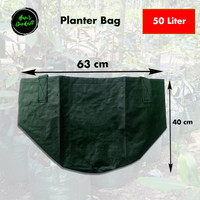 Easy grow planter bag 50 liter polybag tanaman with handle