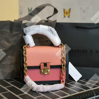 CK 2tone Stone Bag with Handle Purse