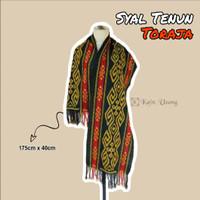 Kain_Usang | Syal Tenun Motif Toraja Hitam | Scarf Tenun Ikat Toraja