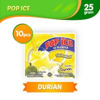 Pop Ice Es Blender Rasa Durian (1 renceng isi 10 sachet)