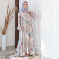 Fashion Baju Gamis Dress Tunik Wanita Muslim Cala Flower
