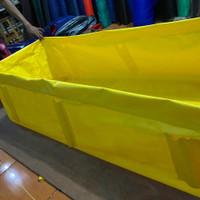 kolam pipa terpal 200x50x50 PVC ORCHID semi karet