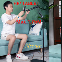 Lazypod Lantai 1.75M S99 Stand Ranjang Phone Holder Stand Hp Tablet
