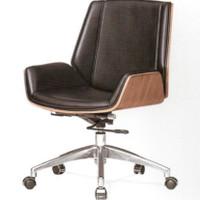 Kursi kantor kayu kulit meeting gaming minimalis murah