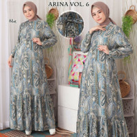 GAMIS BANGKOK MAXI DRESS MUSLIM BUSUI BW6410 ARINA HOMEDRESS MOTIF v.6
