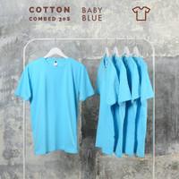 Kaos polos pria katun kaos polos kaos polos combet 30s Baby blue