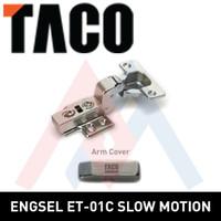 Engsel lemari TACO HPL engsel sendok TACO ET01 - C (Full Bkk.)