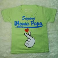 baju atasan anak xl umur 5-6/ sayang mama papa