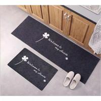 Door Mat Trendy Set 2in1 / Keset Rumah Anti Slip Dapur Motif