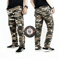 Celana Cargo Panjang Pria Army keren