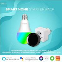 BARDI Smart Home Starter Pack: Smart Bulb + Infra Red Remote + Plug
