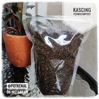 Pupuk Organik Kascing Vermicompost Wormcasting Cacing Worm Casting