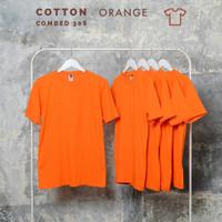 Kaos polos pria katun kaos polos kaos polos combet 30s Orange