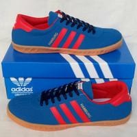 Sepatu Pria Sepatu Adidas Hamburg Blue Red 2 Sepatu Cowok Murah