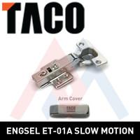 Engsel lemari TACO HPL engsel sendok TACO ET01 - A (Lurus)