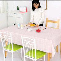 Taplak meja makan anti air persegi anti minyak uk 137x90cm