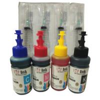 Paket Tinta Canon 4 Botol Dan 4 Suntikan Best Quality Vip Ink