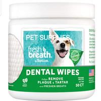 Pembersih karang gigi anjing kucing Tropiclean DENTAL WIPES (USA)
