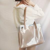 Large PVC Tote Bag Pouch Set Custom Nama