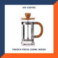 French Press 350ml Coffee Press Wood