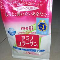 Meiji Amino Collagen 214 gram pink / Collagen Jepang Ori