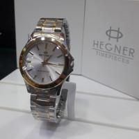Jam tangan pria hegner HW223 original - Silver Gold P S