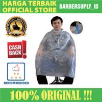 Cape Plastik Barber Salon Premium Transparan / Kip Plastik Barber