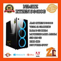 Pc Gaming/Editing Amd Ryzen 5 3400G VEGA11 8GB 120GB 1TB - 8 gb