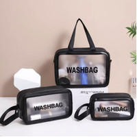 PANACHE 3 pcs/set Large Capacity Cosmetic Toiletry Travel Bag Tas