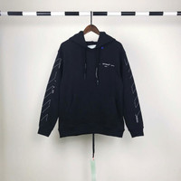 Off White Unfinished Diag Hoodie Mirror