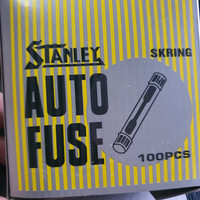 Sekring Fuse Box Audio Tabung Kaca Bulat 10A 15A 20A 25A 1Box 100PC