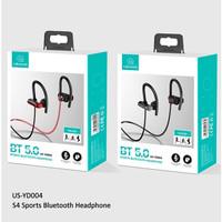usams hf handsfree earphone bluetooth 5.0 hanging neck sport s4 run